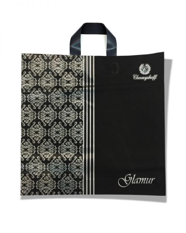 """Пакет с петлевой ручкой  """"Glamur"""" (40×37) 25 шт"""