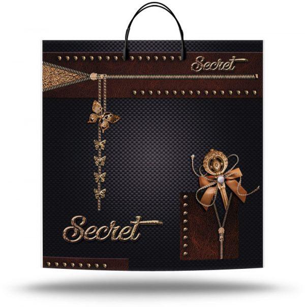 """Пакет на пластиковой ручке """"Secret"""" (40х40) 10 шт"""