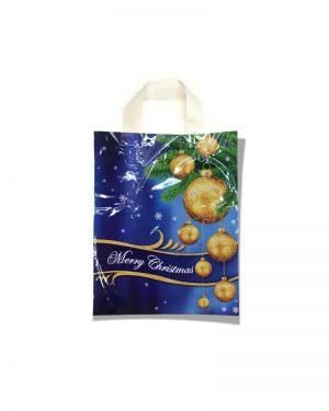 """Пакет с петлевой ручкой маленький ламинированный """"Merry Christmas 2"""" (23х29) 25 шт"""