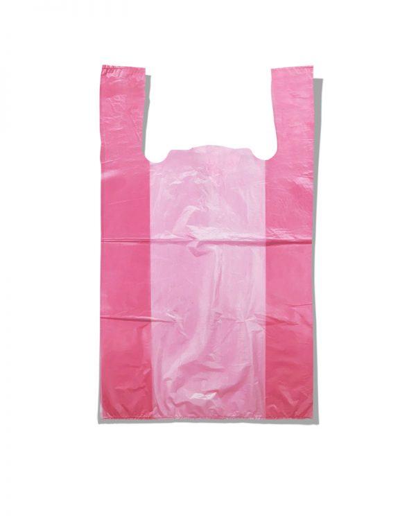 Пакет-майка без рисунка Золотое Сечение розовый (28×45) 250 шт