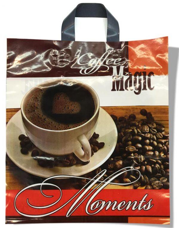 """Пакет с петлевой ручкой тип """"Диор"""" """"Coffee Magic"""" (37х43) 25 шт"""