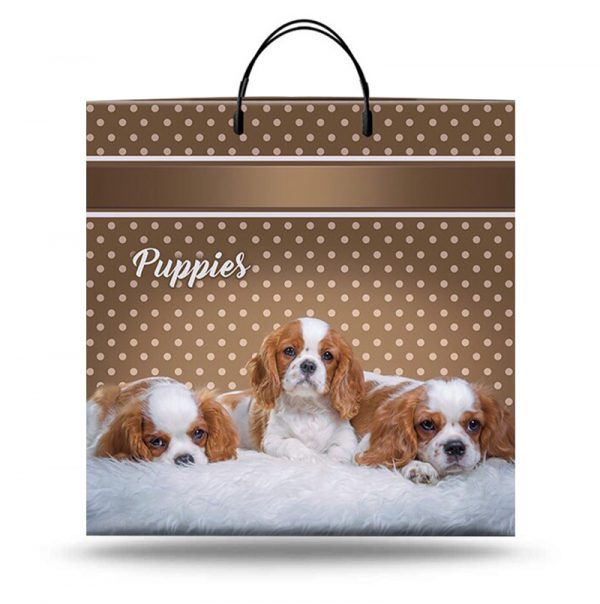 """Пакет на пластиковой ручке """"Puppies"""" (40х40) 10 шт"""