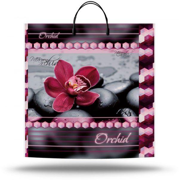 """Пакет на пластиковой ручке """"Орхидея"""" (40х45) 10 шт"""