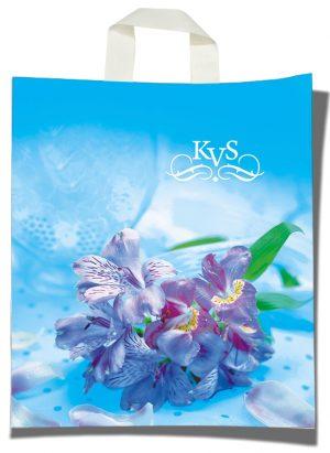 """Пакет с петлевой ручкой тип """"KVS"""" """"Цветы"""" (30х35) 25 шт"""