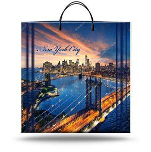 """Пакет на пластиковой ручке """"New York City"""" (40х45) 10 шт"""
