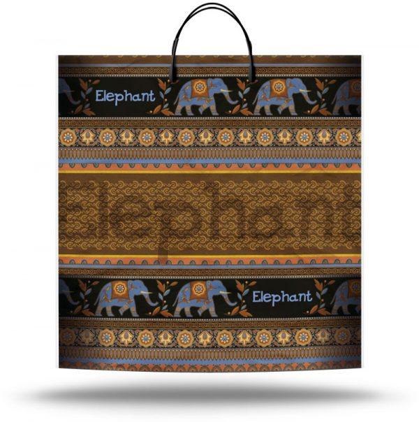"""Пакет на пластиковой ручке """"Elephant"""" (40х40) 10 шт"""