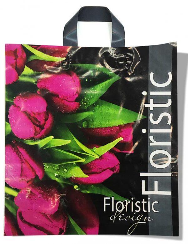 """Пакет с петлевой ручкой тип """"Диор"""" """"Floristic"""" (37х43) 25 шт"""
