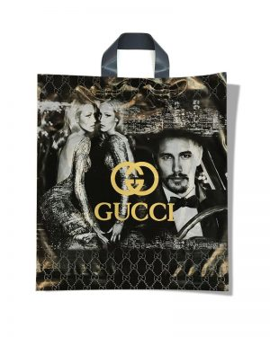 "Пакет с петлевой ручкой тип ""Диор"" ""Gucci"" (37х43) 25 шт"