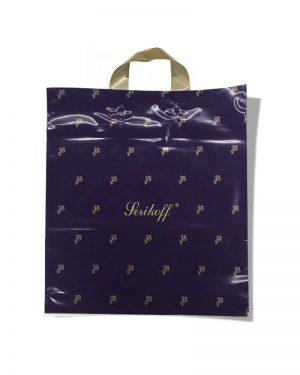 """Пакет с петлевой ручкой тип """"Serikoff"""" фиолетовый глянцевый (40х48) 25 шт"""