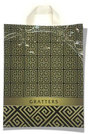 """Пакет с петлевой ручкой маленький ламинированный """"Gratters"""" (23х29) 25 шт"""