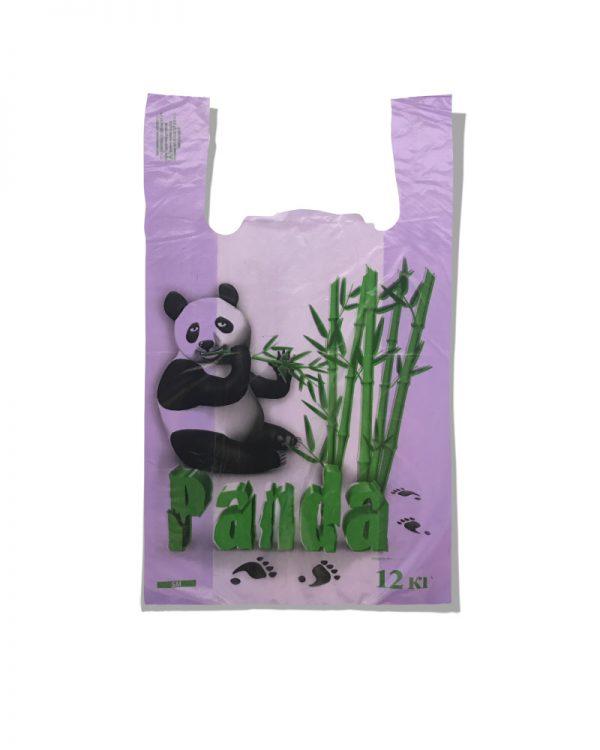 Пакет-майка «Панда» Золотое сечение фиолетовый (25х42) 100 шт