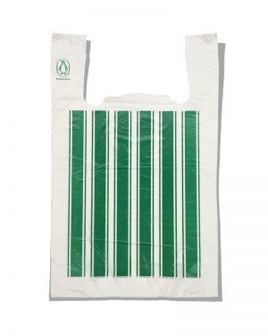 "Пакет-майка ""Полоса №4"" Comserv зелёный (44×70) 100 шт"