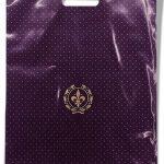 """Пакет с прорезной ручкой тип """"Serikoff"""" фиолетовый глянцевый (30х40) 25 шт"""