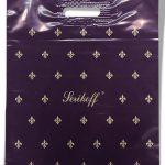 """Пакет с прорезной ручкой тип """"Serikoff"""" фиолетовый глянцевый (39х47) 25 шт"""