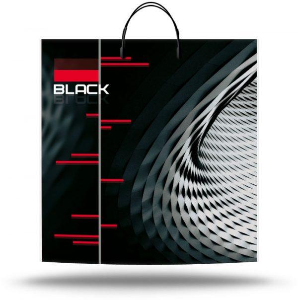 """Пакет на пластиковой ручке """"Black"""" (40х45) 10 шт"""