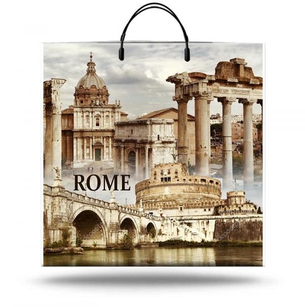 """Пакет на пластиковой ручке """"Rome"""" (40х40) 10 шт"""
