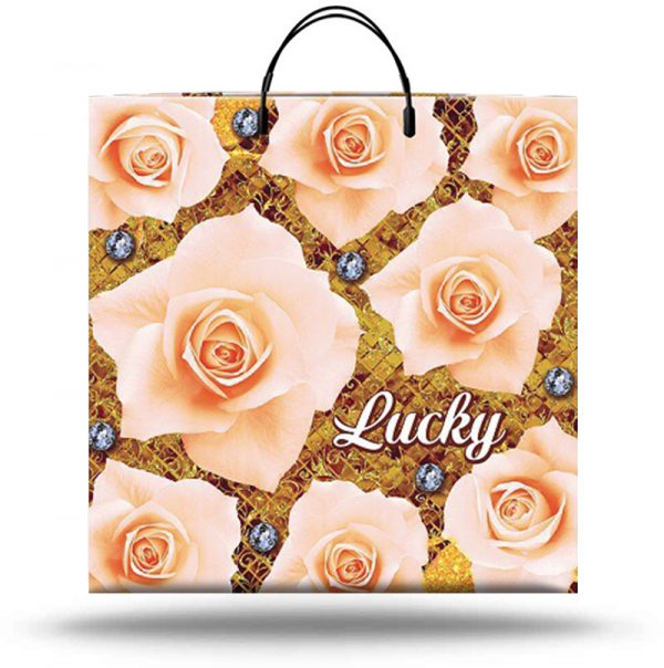 """Пакет на пластиковой ручке """"Lucky"""" (36х37) 10 шт"""