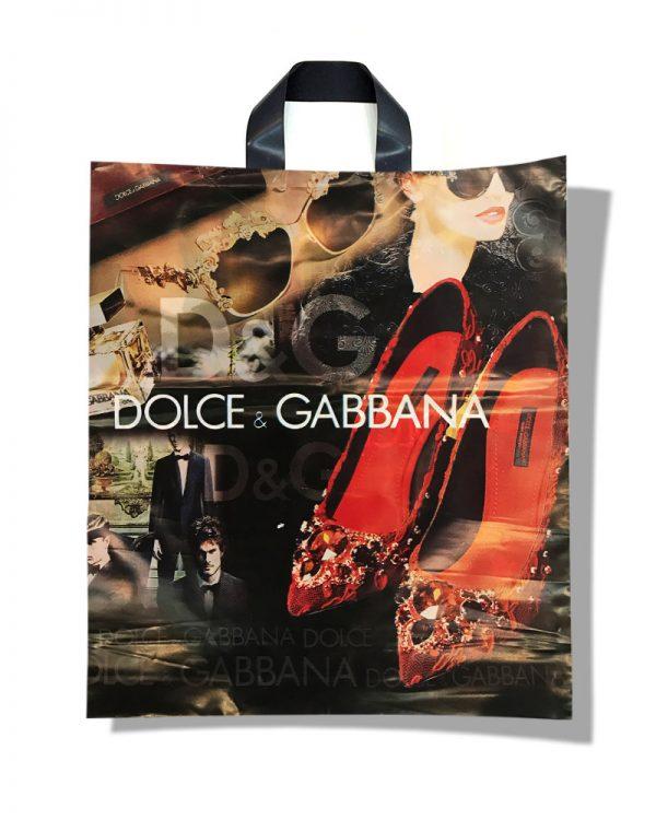 "Пакет с петлевой ручкой тип ""Диор"" ""Dolce&Gabbana"" (37х43) 25 шт"