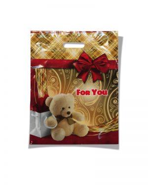 """Пакет с прорезной ручкой  """"For You""""  ламинированный (30х39) 25 шт"""