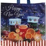 """Пакет с петлевой ручкой тип """"Диор"""" """"Happy New Year 3"""" (37х43) 25 шт"""