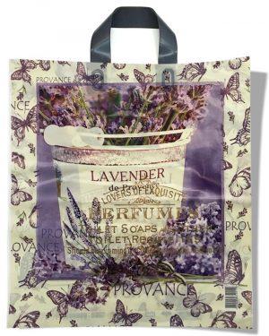 """Пакет с петлевой ручкой тип """"Диор"""" """"Lavender"""" (37х43) 25 шт"""