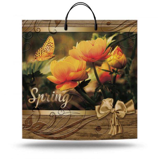"Пакет на пластиковой ручке ""Spring"" (40х40) 10 шт"