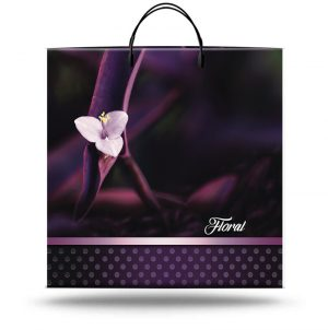 "Пакет на пластиковой ручке ""Floral"" (36х37) 10 шт"
