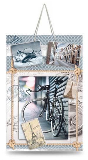 """Подарочный пакет картонный """"МАЛЫЙ"""" 18 """"Велосипед"""" (11х18х5)"""