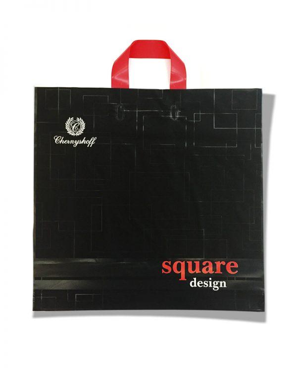 """Пакет с петлевой ручкой  """"Square Design"""" (47×44) 25 шт"""