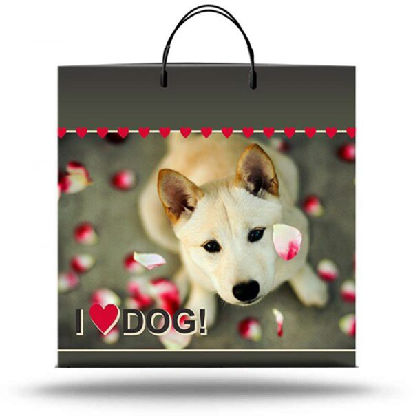 """Пакет на пластиковой ручке """"Dog"""" (36х37) 10 шт"""
