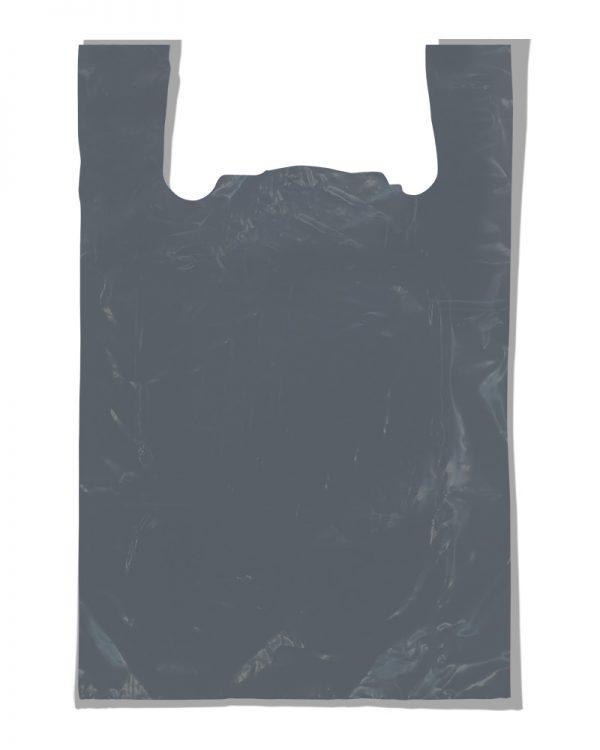 """Пакет-майка """"Мега плотная"""" серый (60х85) 25 шт"""