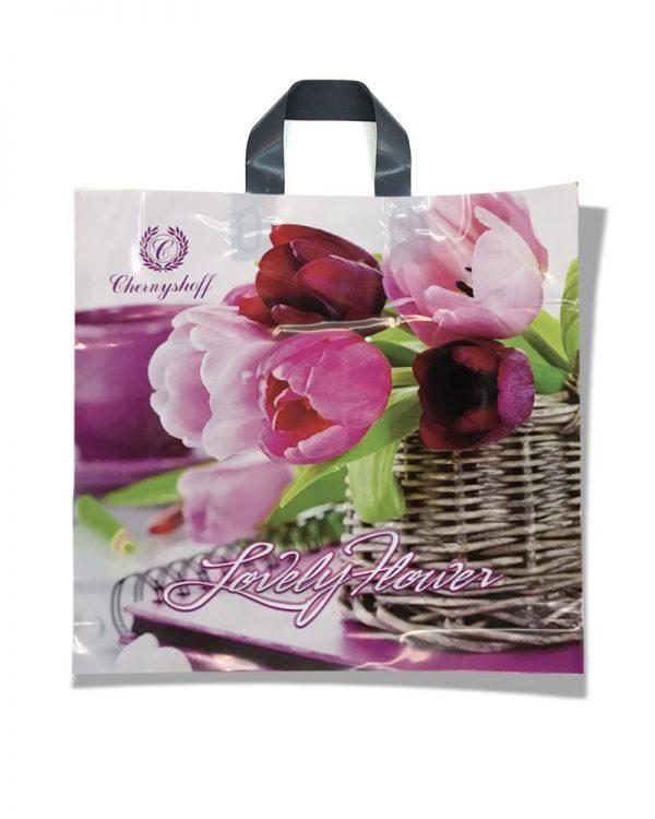 """Пакет с петлевой ручкой """"Lovely Flower"""" (38х34) 25 шт"""