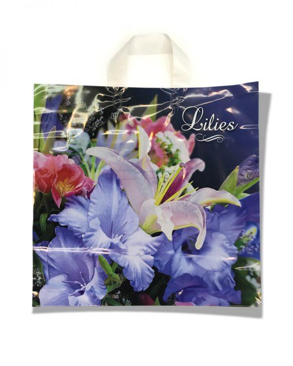 """Пакет с петлевой ручкой тип """"KVS"""" """"Lilies"""" (43х42)  25 шт"""