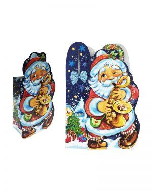 """Коробка картонная """"Дед Мороз"""" для конфет (600 г)"""