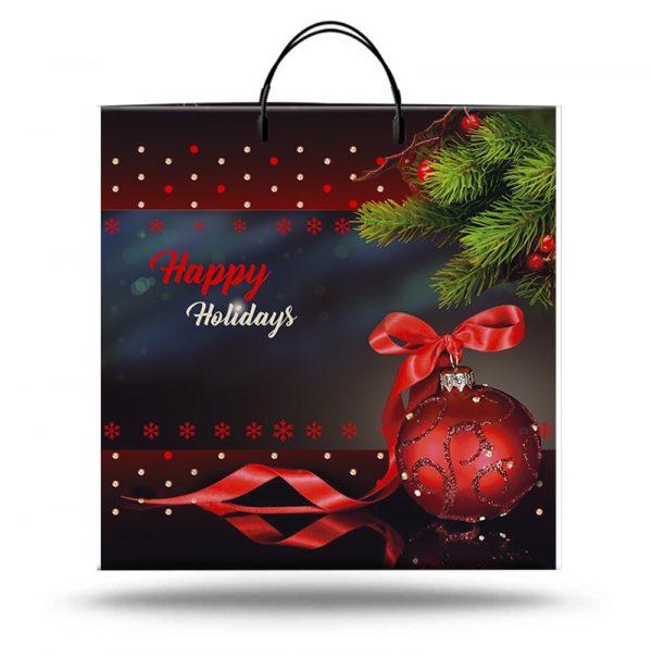 """Пакет на пластиковой ручке """"Happy Holidays"""" (36х37) 10 шт"""