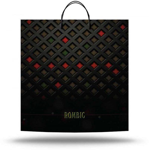 """Пакет на пластиковой ручке """"Rombic"""" (40х45) 10 шт"""