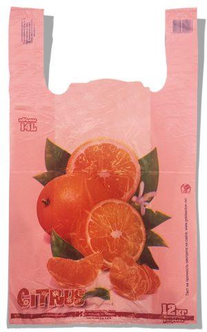 """Пакет-майка """"Citrus"""" Золотое Сечение розовый (28×45) 250 шт"""
