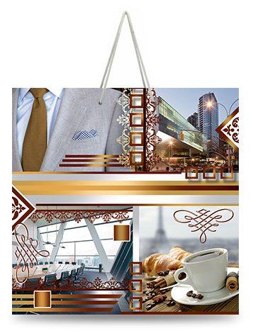 "Подарочный пакет картонный ""ЧАШКА"" 24 ""Бизнес"" (16х16х8)"