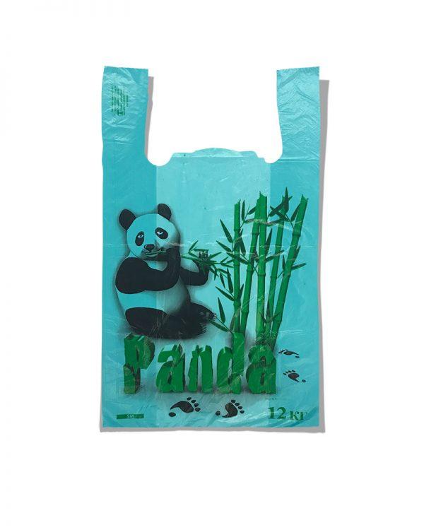 Пакет-майка «Панда» Золотое сечение бирюзовый (25х42) 100 шт