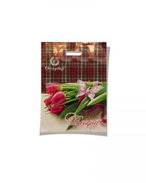 """Пакет с прорезной ручкой  """"Bouquet"""" (20х30) 50 шт"""