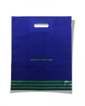 """Пакет с прорезной ручкой тип """"Serikoff"""" """"Sport line"""" синий (39х47) 25 шт"""