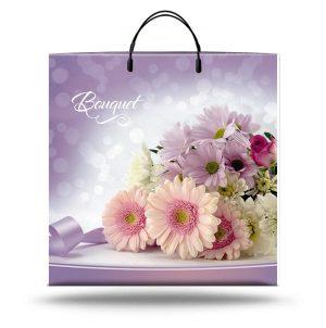 """Пакет на пластиковой ручке """"Bouquet"""" (40х40) 10 шт"""