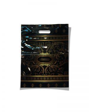 """Пакет с прорезной ручкой  """"Luxury"""" ламинированный (30х39) 25 шт"""