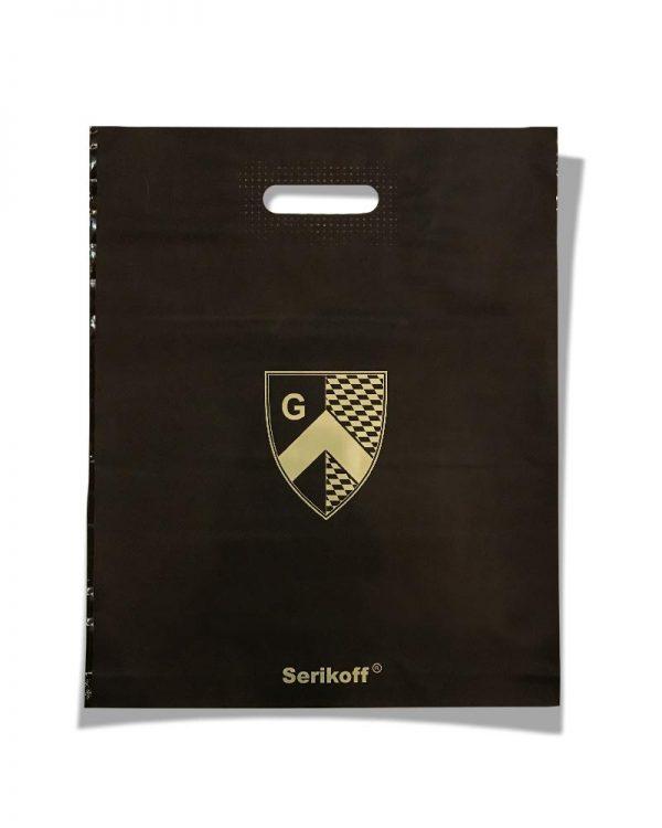 """Пакет с прорезной ручкой тип """"Serikoff"""" """"Щит"""" коричневый (39х47) 25 шт"""