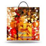 """Пакет на пластиковой ручке """"Merry Christmas"""" (40х40) 10 шт"""