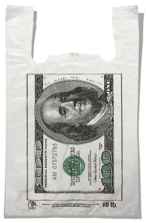 """Пакет-майка """"Dollar"""" Золотое Сечение (29х46) 250 шт"""