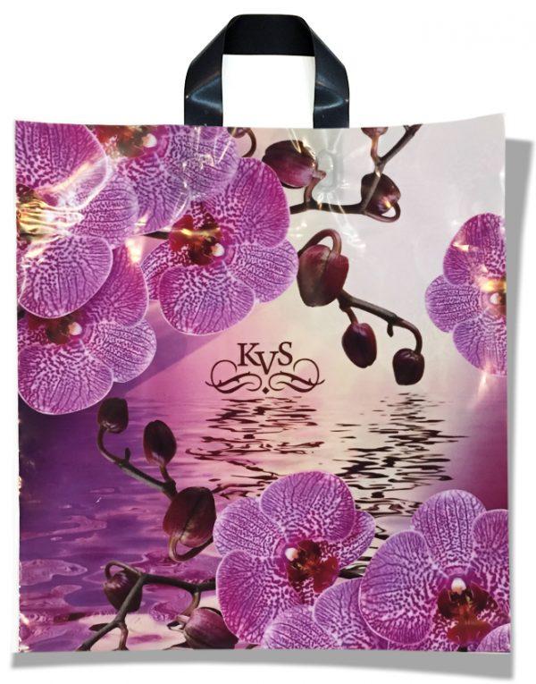 """Пакет с петлевой ручкой тип """"KVS"""" """"Орхидея"""" (40х42) 25 шт"""