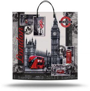 "Пакет на пластиковой ручке ""London 2"" (40х40) 10 шт"