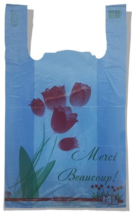 """Пакет-майка """"Тюльпан"""" Золотое Сечение синий (28×45) 250 шт"""