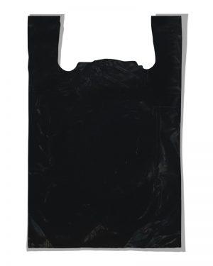 """Пакет-майка """"Мега плотная"""" черный (60х85) 25 шт"""